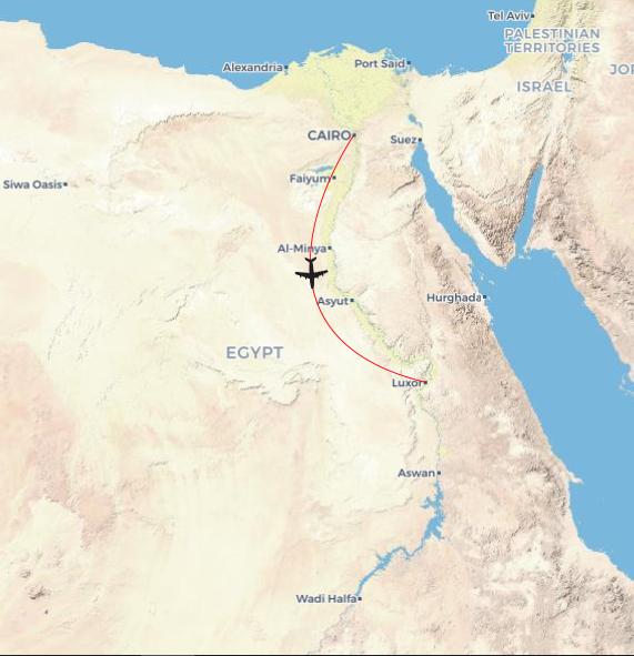 Egypt Explorer: Cairo to Luxor & Alexandria Package map